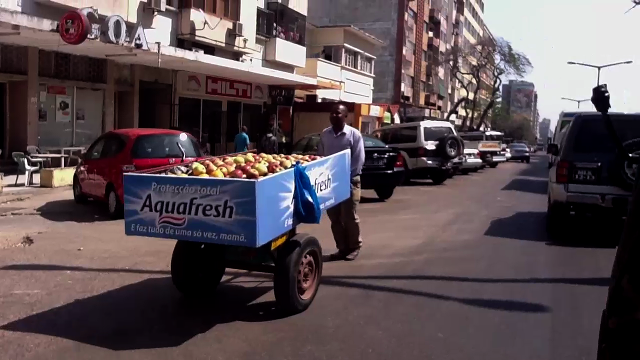 Figure_06: Typical fruit cart going against